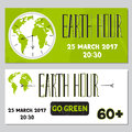Earth Hour set of banners
