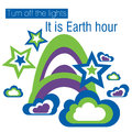 Earth hour turn off the lights it is Royalty Free Stock Photography