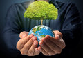 Earth in human the hand some components of this image are provided courtesy of nasa Royalty Free Stock Photography