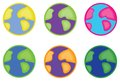 Earth icons multicolored or globe on the whitre background Royalty Free Stock Images