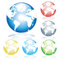 Earth illustrated Royalty Free Stock Photo
