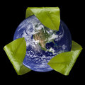Earth with Leaf Recycle Symbol Royalty Free Stock Images