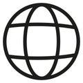 Earth line vector icon