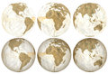 Earth made of Degraded Loose Leaf Royalty Free Stock Images