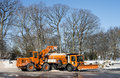 Earth mover and snowplow Stock Photography