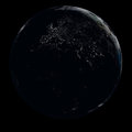 Earth at night Royalty Free Stock Photography