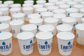 Earth o water in eugene or usa april sponsors the marathon to provide hydration for thousands of runners Stock Images