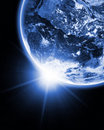 Earth in open space Royalty Free Stock Photo