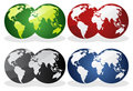 Earth over continents. Royalty Free Stock Photo