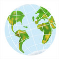 Earth planet globe. Royalty Free Stock Images