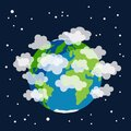 Earth planet earth globe with atmosphere covered by clouds and gases Royalty Free Stock Photo