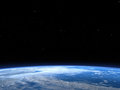 Earth planet outer space background illustration of the blue with an aerial view from makes a nice Stock Photos