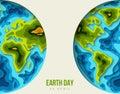 Earth planet vector illustration