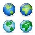 Earth planet world map north and south america africa and europe vector illustration Royalty Free Stock Photo