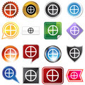 Earth Planetary Sign Icon Set Stock Photography