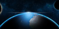 Earth and planets in universe – fantasy science background Royalty Free Stock Photography