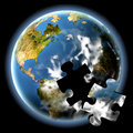 The Earth Puzzle Stock Images