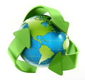 Earth in recycle symbol Royalty Free Stock Photo