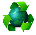 Earth recycling concept Stock Images