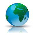 Earth with reflection vector illustration Royalty Free Stock Photography