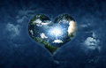 Earth shaped heart Stock Images