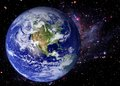 Earth space universe galaxy world stars background elements of this image furnished by nasa Royalty Free Stock Photography