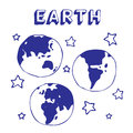 Earth and stars Royalty Free Stock Photo