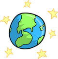 Earth and stars Vector Royalty Free Stock Photo
