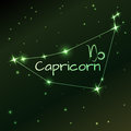Earth symbol of Capricorn zodiac sign, horoscope, vector art and illustration. Royalty Free Stock Photo