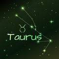 Earth symbol of Taurus zodiac sign, horoscope, vector art and illustration. Royalty Free Stock Photo