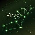 Earth symbol of Virgo zodiac sign, horoscope, vector art and illustration. Royalty Free Stock Photo