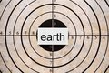 Earth target Royalty Free Stock Photo