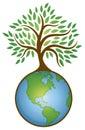 Earth Tree Graphic Logo