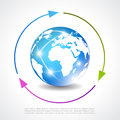 Earth vector poster with arrows Stock Images