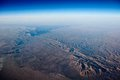 Earth viewed from the air Royalty Free Stock Photo