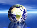 Earth in water! AFRICA Royalty Free Stock Photo