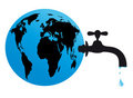 Earth water tap supply Stock Photos