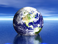 Earth in water! USA Royalty Free Stock Photo
