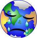 Earth weeping Royalty Free Stock Photography