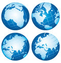Earth world globes icons set Royalty Free Stock Photo