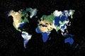 Earth world map Royalty Free Stock Photo