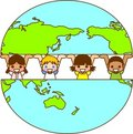 Earth and the World's Children Royalty Free Stock Photos