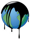 Earth wrapped-up in crude oil Stock Photography