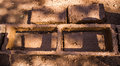 Earthen brick making how to make Royalty Free Stock Image