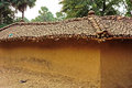 Earthen Hut with Clay Tile Roof Royalty Free Stock Photo