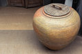 Earthenware jar traditional in northern of thailand Royalty Free Stock Image