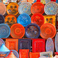 Earthenware in the market Royalty Free Stock Photo