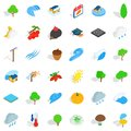 Earthly icons set, isometric style Royalty Free Stock Photo