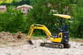 Earthmover on a construction site Stock Photo