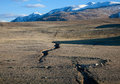 Earthquake crack in the mountains Stock Photo